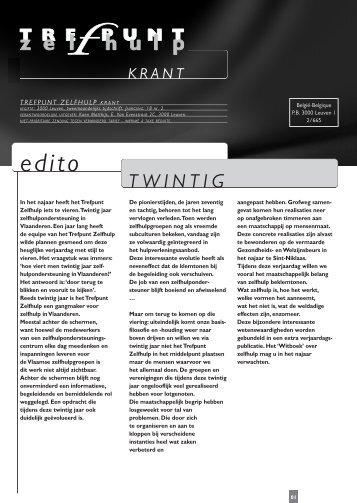 TZ-krant 18 (2) - Trefpunt Zelfhulp