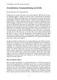 Jesusdebatten - Centrum för teologi och religionsvetenskap - Lunds ...