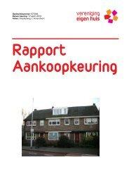 Rapport Aankoopkeuring - Vereniging Eigen Huis