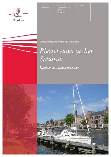 Pleziervaart op het Spaarne - Gemeente Haarlem