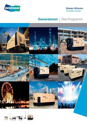 Prospekt der PowerSource-Generatoren von 20-500 kVA