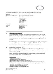 Verslag vergadering 22 november 2012 - Permar
