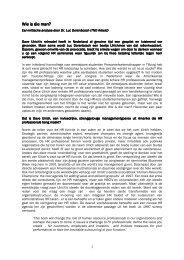 Een kritische analyse door Dr. Luc Dorenbosch - NVP