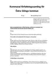 Bolagsordning för Östra Göinge kommuns Industrifastighets AB