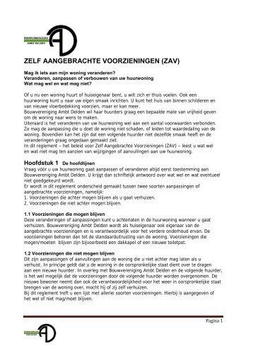 zav - Bouwvereniging Ambt Delden