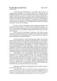De gode viljer og de gale veje. Kronik. Information. 2007 - Klaus Illum