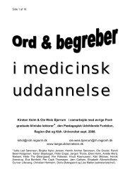 Ord og begreber i medicinsk uddannelse - Dansk Hæmatologisk ...