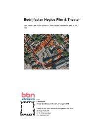 Bedrijfsplan Hegius Film & Theater - Binnenstad - Gemeente Deventer