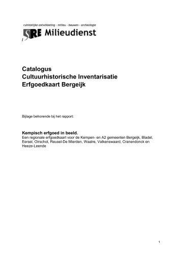 Catalogus cultuurhistorische inventarisatie gemeente Bergeijk