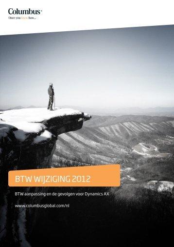 BTW WIJZIGING 2012 - ColumbusBlog