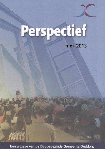 Perspectief mei 2013 - Doopsgezinde Gemeente Ouddorp