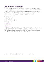 AGR formulier 4: Functieprofiel - Heliomare