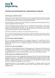 vigtige oplysninger ifm. anmeldelse af skade - Dansk Boligforsikring