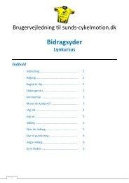 Bidragsyder - Sunds Cykelmotion