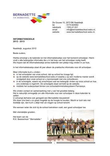 info@bernadetteschool.wsko.nl, website - RK Basisschool Bernadette