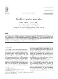 Probabilistic quantum teleportation