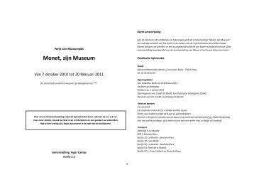 Claude Monet: zijn Museum