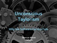 Taylorism and Mass Production - Why The Software Factory Fails