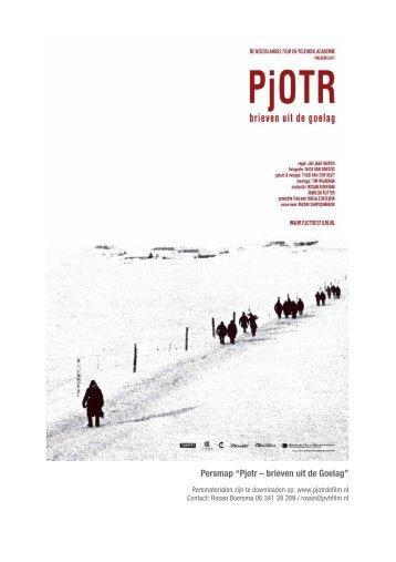 """Persmap """"Pjotr – brieven uit de Goelag"""" - ThankEve Productions"""