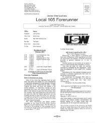 Feb 08, 2013 - USW Local 105