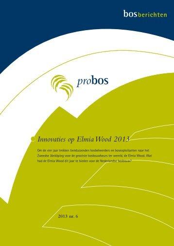 Innovaties op Elmia Wood 2013