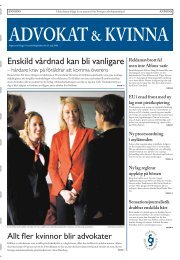 Läs Advokat & kvinna - Advokatsamfundet