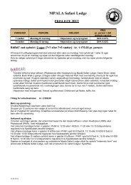 Download hele prislisten for 2013 her inkl ... - Mpala Safaris