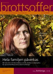 Hela familjen påverkas - Tidningen Brottsoffer