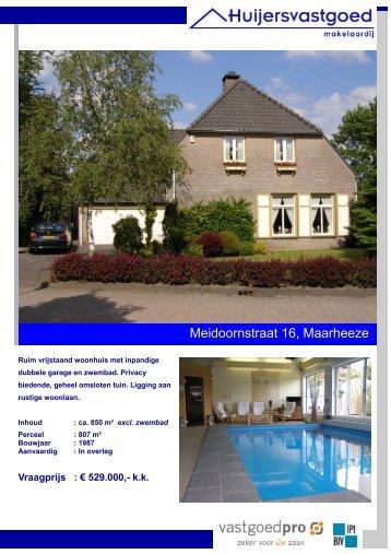 Brochure Meidoornstraat 16 Maarheeze.pub - Huijers Vastgoed ...