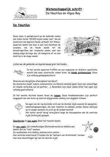 De Nautilus en Algoa Bay (PDF) - Pairi Daiza
