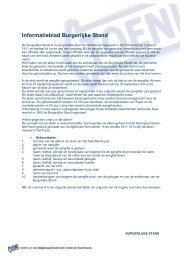 Informatieblad Burgerlijke Stand