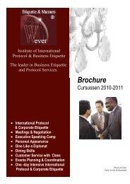 Brochure - Wever Etiquette & Manners