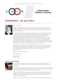 CFIR: Nyhedsmail - 26. april 2012