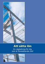 Att sätta lön - Publikationer från Sveriges Byggindustrier