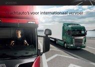Brochure: Vrachtauto's voor internationaal vervoer - Scania