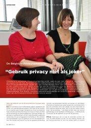 """""""Gebruik privacy niet als joker"""" - VVBAD"""