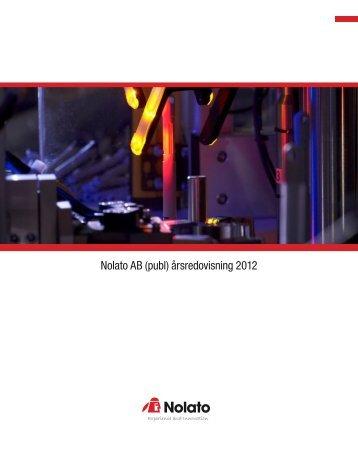 Nolato årsredovisning 2012