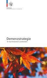 Demenzstrategie - Regierung des Fürstentums Liechtenstein