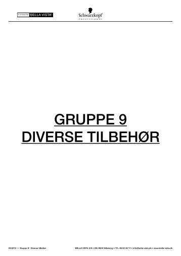 GRUPPE 9 DIVERSE TILBEHØR - Salon Danmark
