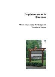 Zorge(n)loos wonen in Hoogeloon - PON