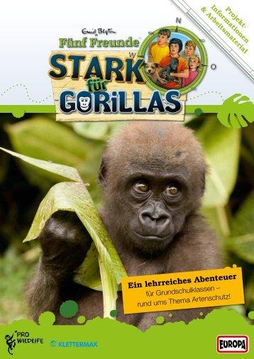 """Aktionsmappe """"Stark für Gorillas"""" - Fünf Freunde"""