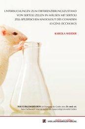 Untersuchungen zum Differenzierungszustand von Sertoli Zellen in