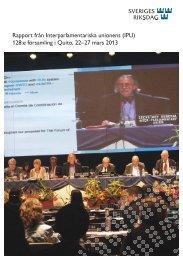 Rapporten (pdf, nytt fönster) - Riksdagen