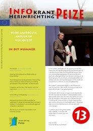 Infokrant juni 2009 - herinrichting Peize