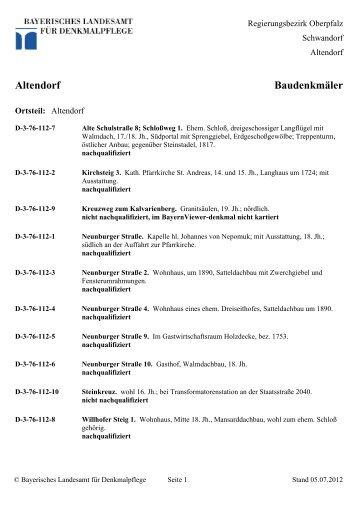 Altendorf Baudenkmäler
