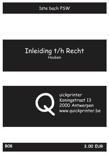 B08 Inleiding tot het recht - Quickprinter
