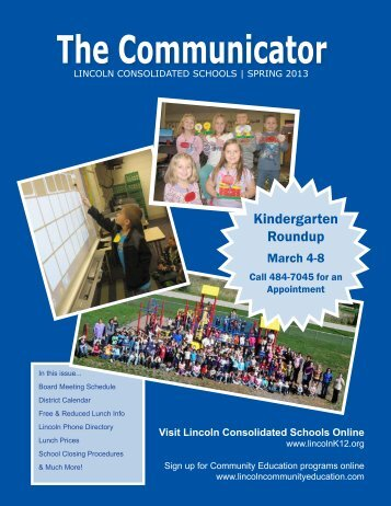 The Communicator - Lincoln Consolidated Schools