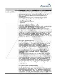 Arbejdsmedicinske helbredsundersøgelser - Armoni