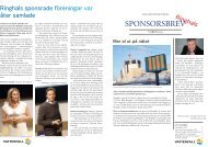 Ringhals sponsorsbrev våren 2013 - Vattenfall