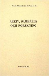 ARKIV, SAMHÄLLE OCH FORSKNING - Visa filer